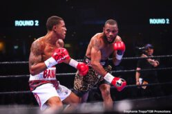 Jeison Rosario, Julian Williams - Someone had to be the first to fall here in 2020. And last night, in suffering the first big and important upset defeat of the new year, Julian Williams became the first defending world champion to get shocked. The Philly warrior, fighting before a big home town crowd, was TKO'd in the fifth round by heavy underdog Jeison Rosario of the Dominican Republic, now based in Miami.