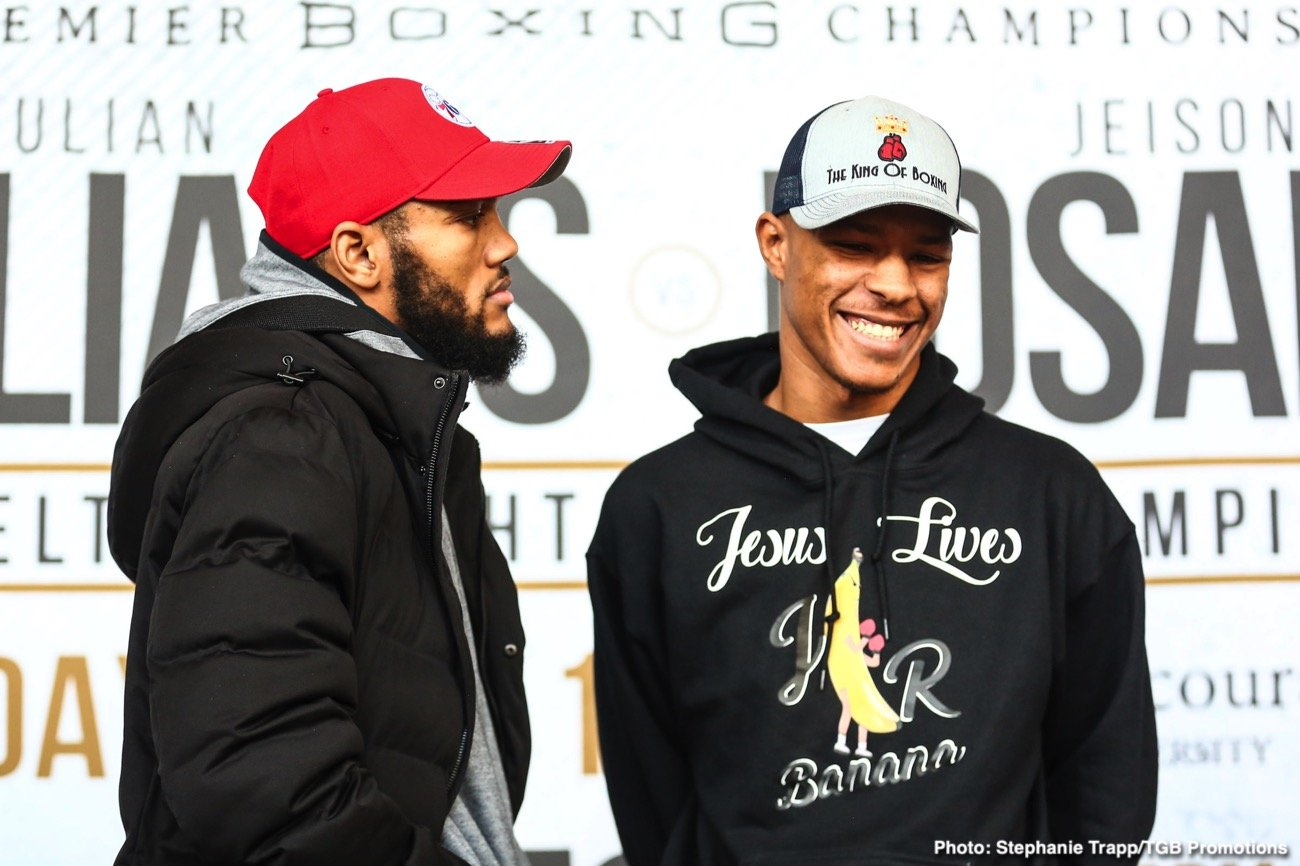 Julian Williams - This Saturday night on free-to-air FOX the PBC returns for 2020 featuring a Philadelphia homecoming for Julian 'J-Rock' Williams squaring off against one-loss Jeison Rosario. The co-main event is an interesting pairing of unbeaten prospect Chris Colbert taking on Jezzreel Corrales for a WBA trinket. All and all the main event isn't can't miss matchup but it should give entertainment value to any casuals tuning in.