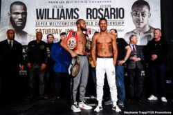Jeison Rosario, Julian Williams - Unified world junior middleweight champion Julian 'J-Rock' Williams is ready to produce an explosive performance as he makes the first defence of his unified titles against hard-hitting contender Jeison Rosario this Saturday evening at the Liacouras Center, Philadelphia, PA.