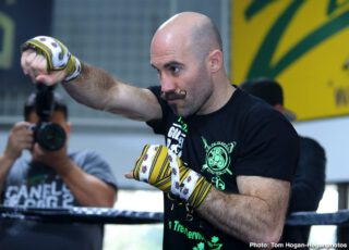 """Gary O'Sullivan - Gary """"Spike"""" O'Sullivan (30-3, 21 KOs) hosted a media workout today at Boxers and Brawlers Boxing Club ahead of his 12-round middleweight fight against Jaime Munguia (34-0, 27 KOs) at The Alamodome. The event will take place Saturday, Jan. 11 at The Alamodome in San Antonio, TX and will be streamed live exclusively on DAZN."""