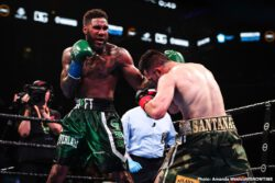 "Francisco Santana, Jarrett Hurd - The former unified champion ""Swift"" Jarrett Hurd returned to the ring for the first time since losing his titles to score a unanimous decision over Francisco ""Chia"" Santana in their 10-round super welterweight contest."