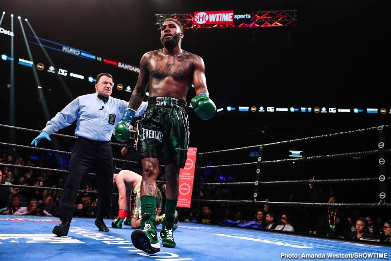 """Francisco Santana - The former unified champion """"Swift"""" Jarrett Hurd returned to the ring for the first time since losing his titles to score a unanimous decision over Francisco """"Chia"""" Santana in their 10-round super welterweight contest."""