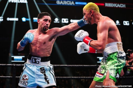 "Arnold Khegai, Danny Garcia, Francisco Santana, Ivan Redkach, Jarrett Hurd, Stephen Fulton - Danny ""Swift"" García (36-2, 21 KOs) was surprisingly taken the 12 round distance by the game but limited Ivan ""El Terrible"" Redkach (23-5-1, 18 KOs) in beating the Ukranian by a 12 round unanimous decision in a World Boxing Council welterweight title eliminator on Saturday night at the Barclays Center in Brooklyn, New York."