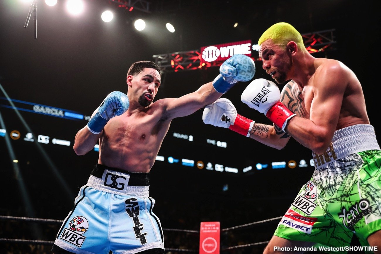 "Danny ""Swift"" García (36-2, 21 KOs) was surprisingly taken the 12 round distance by the game but limited Ivan ""El Terrible"" Redkach (23-5-1, 18 KOs) in beating the Ukranian by a 12 round unanimous decision in a World Boxing Council welterweight title eliminator on Saturday night at the Barclays Center in Brooklyn, New York."