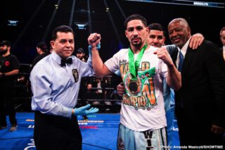 """Errol Spence - Former two-weight champ Danny Garcia is buzzing over his next fight. """"Swift,"""" who took to social media yesterday (picked up by Fight Hub), says in the short video how he will be back in the ring in September and that his opponent will be either Manny Pacquiao or Errol Spence."""
