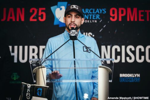 Arnold Khegai, Danny Garcia, Francisco Santana, Ivan Redkach, Jarrett Hurd, Stephen Fulton - Two-division world champion Danny García and hard-hitting Ivan Redkach went face-to-face at the final press conference Thursday before they battle in a WBC Welterweight Title Eliminator that headlines action this Saturday, January 25 live on SHOWTIME from Barclays Center, the home of BROOKLYN BOXING™, in a Premier Boxing Champions event.