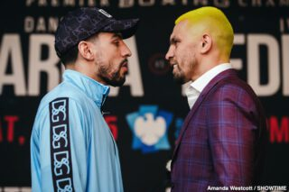 Francisco Santana - Two-division world champion Danny García and hard-hitting Ivan Redkach went face-to-face at the final press conference Thursday before they battle in a WBC Welterweight Title Eliminator that headlines action this Saturday, January 25 live on SHOWTIME from Barclays Center, the home of BROOKLYN BOXING™, in a Premier Boxing Champions event.