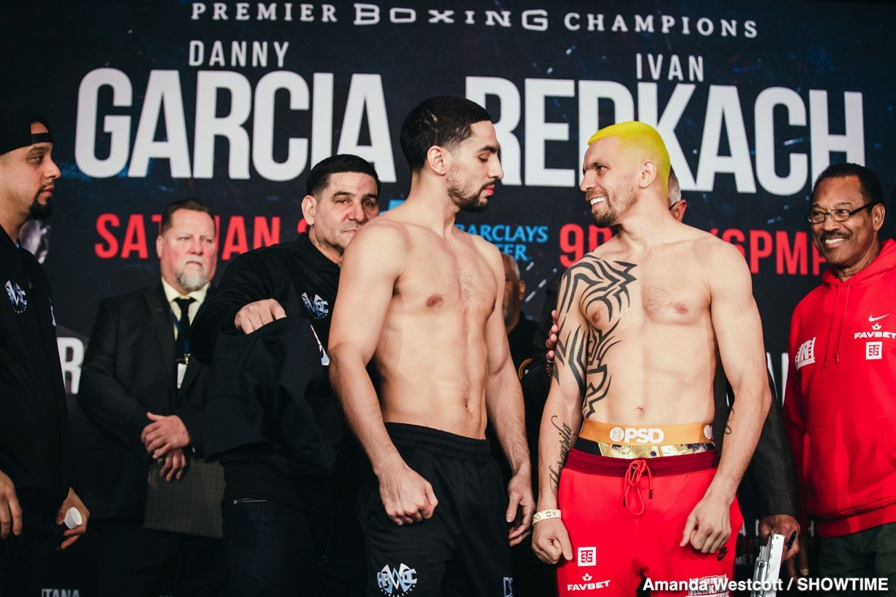 SHOWTIME Sports will provide live streaming coverage of fight week events as two-division world champion Danny Garcia battles hard-hitting Ivan Redkach in a WBC Welterweight Title Eliminator this Saturday, January 25 live on SHOWTIME from Barclays Center in Brooklyn.