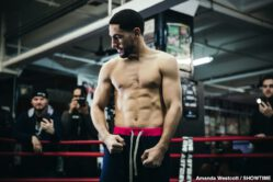 Danny Garcia, Ivan Redkach, Jarrett Hurd - Two-division world champion Danny Garcia and hard-hitting Ivan Redkach showed off their skills at a media workout Wednesday before they battle in a WBC Welterweight Title Eliminator headlining action this Saturday, January 25 live on SHOWTIME from Barclays Center, the home of BROOKLYN BOXING™, in a Premier Boxing Champions event.