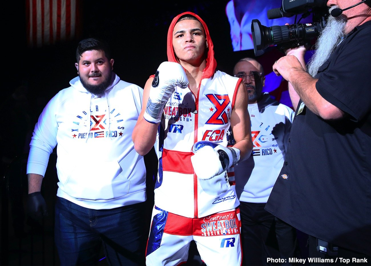 """The 17-year-old Puerto Rican prospect Xánder Zayas is already in Puerto Rico and trained this afternoon in this city en route to his debut on the island this Friday i """"A Puño Limpio"""" which will be held at the Rubén Zayas Montañez Coliseum in Trujillo Alto, in a presentation of PR Best Boxing Promotions (PRBBP) in association with Spartan Boxing and Top Rank, which will be broadcast live on www.facebook.com/PRBestBoxing."""