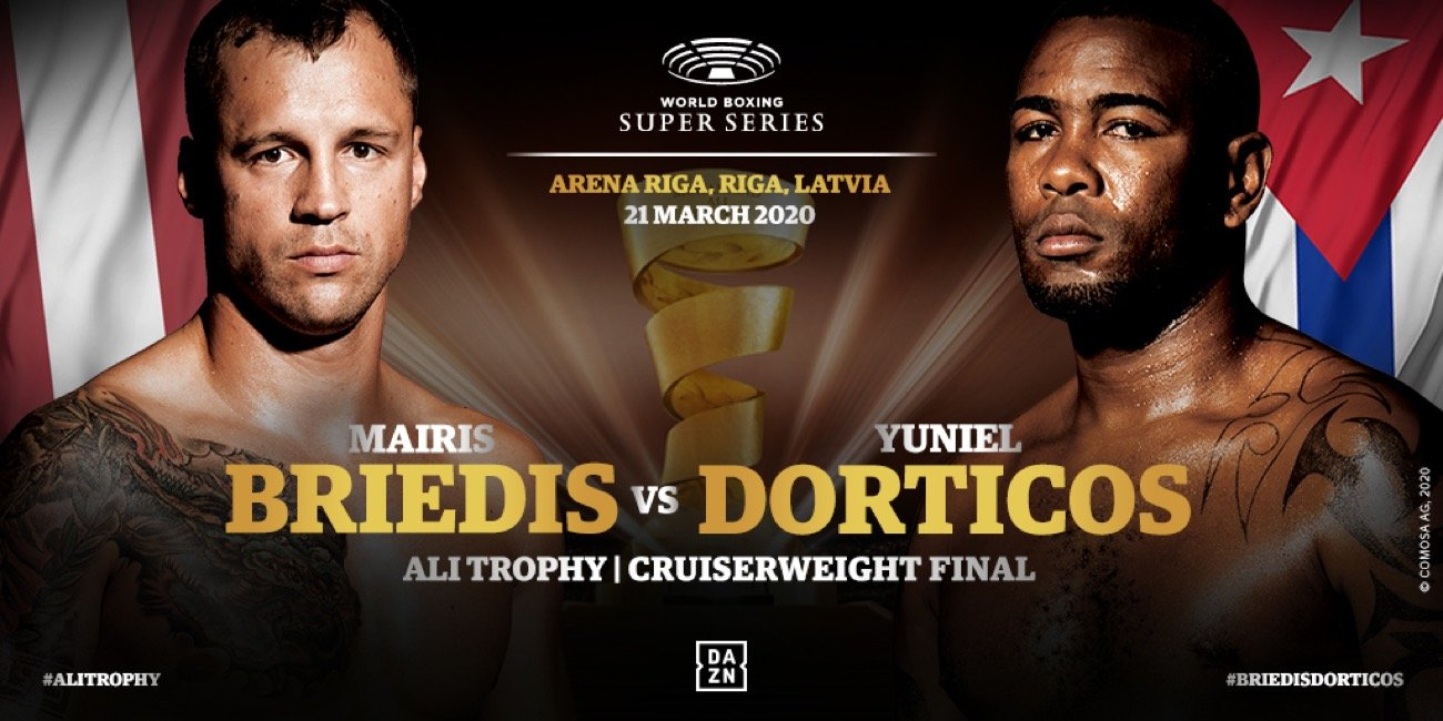 Andrew Tabiti, Yuniel Dorticos - Renowned Cuban coach, Pedro Roque, believes Muhammad Ali is watching over IBF champ Yuniel Dorticos in the WBSS Cruiserweight Ali Trophy final against Mairis Briedis on March 21 at the Arena Riga.