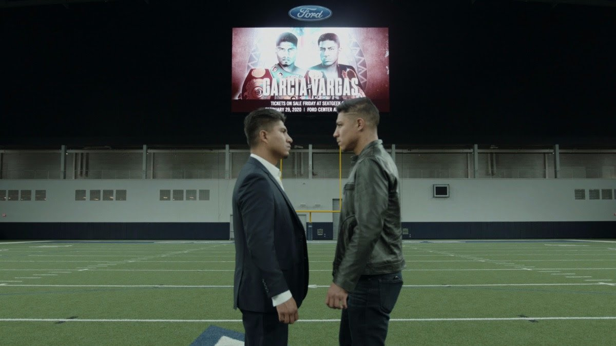 Jay Harris, Jessie Vargas, Julio Cesar Martinez, Mikey Garcia - Mikey Garcia and Jessie Vargas met face-to-face in at Ford Center at The Star in Frisco, Texas ahead of their Welterweight showdown at the venue on Saturday February 29, live on DAZN in the US and on Sky Sports in the UK – and tickets go on sale at 10am (CST) today.