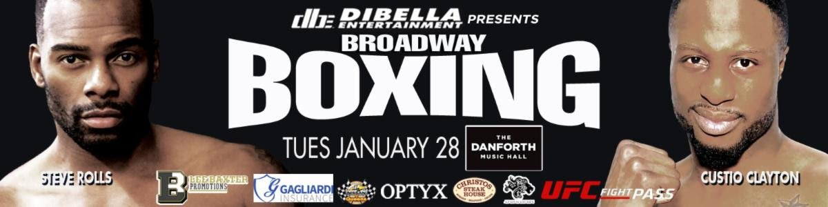 Shady Gamhour, Steve Rolls - DiBella Entertainment will debut its acclaimed Broadway Boxing series north of the border on Tuesday, January 28 at the Danforth Music Hall in Toronto, Canada. The 113th edition of Broadway Boxing will be live streamed exclusively on UFC FIGHT PASS®, the world's leading digital subscription service for combat sports, beginning at 9:00pm ET/6:0pm PT.