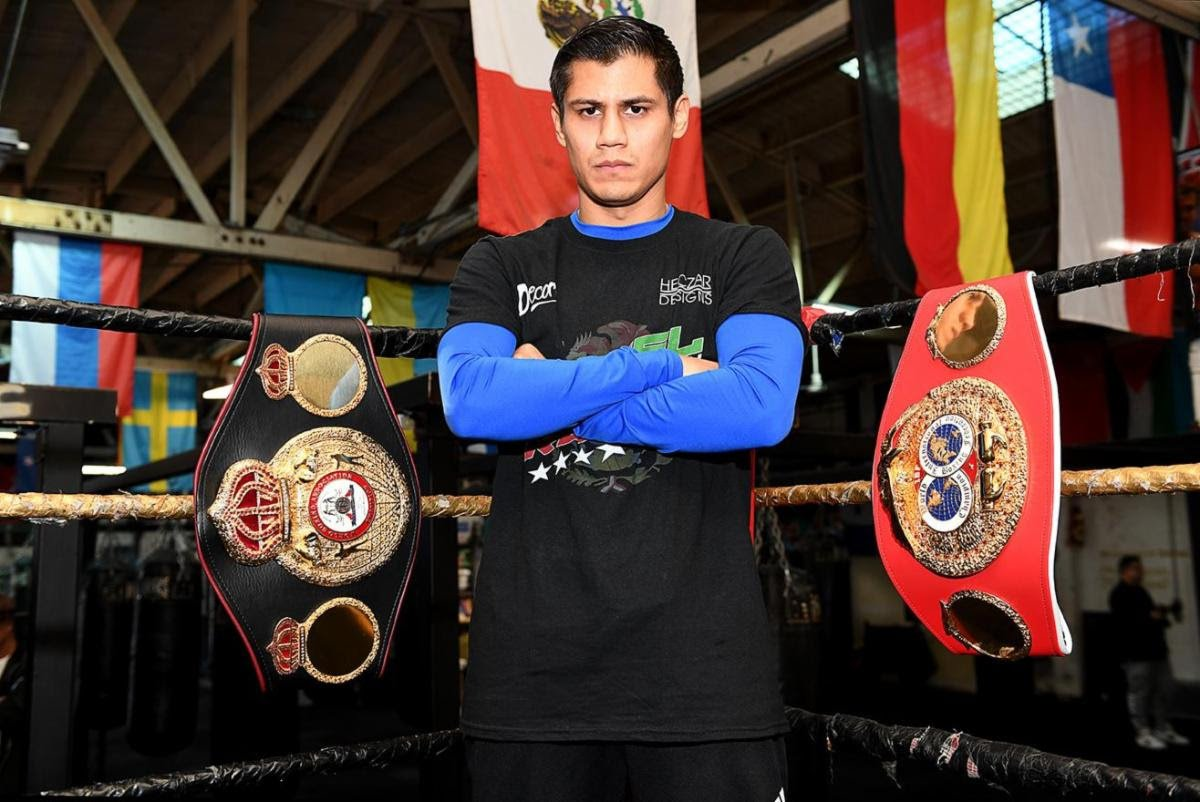 Daniel Roman, Murodjon Akhmadaliev - Thompson Boxing Promotion's WBA and IBF World Super-Bantamweight champion, Daniel Roman, held a workout for the media today at the City of Angles Boxing gym in Los Angeles. Roman defends his titles against unbeaten WBA mandatory challenger Murodjon Akhmadaliev on the stacked World championship triple header bill on Thursday January 30 at the Meridian at Island Gardens in Miami, live on DAZN in the US and on Sky Sports in the UK.