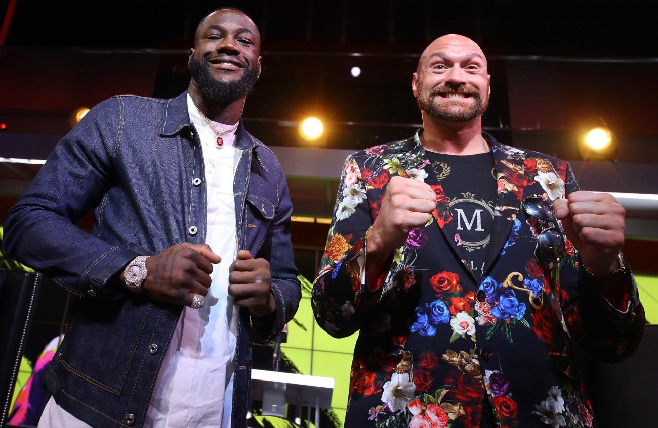 "Deontay Wilder, ESPN pay-per-view, Fox Sports Pay-Per-View, Tyson Fury - Unbeaten WBC Heavyweight World Champion Deontay ""The Bronze Bomber"" Wilder and undefeated lineal heavyweight champion Tyson ""The Gypsy King"" Fury continued their war of words at a special attraction press event on Saturday at FOX Studios in Los Angeles, as they near their highly anticipated showdown taking place Saturday, February 22 in a historic, joint FOX Sports PPV & ESPN+ PPV from the MGM Grand Garden Arena in Las Vegas."