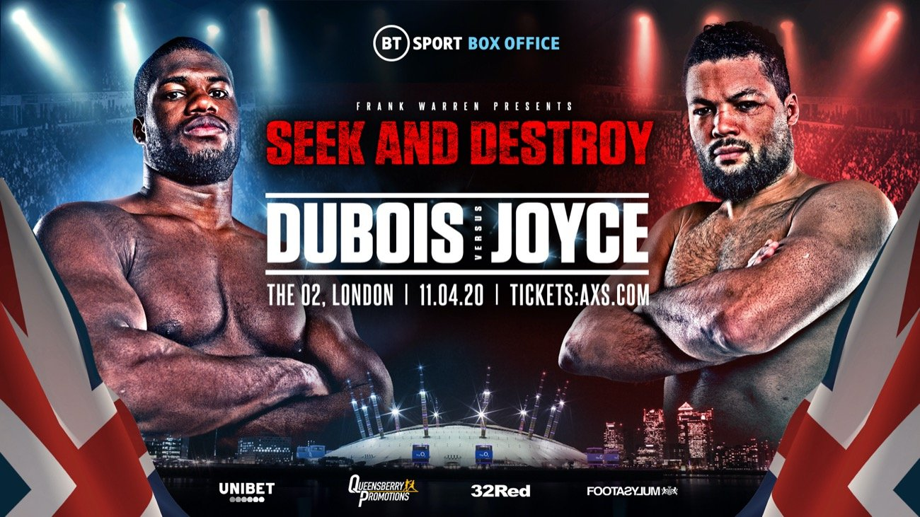 Daniel Dubois - THE big and much anticipated heavyweight showdown between Britain's undefeated KO merchants 'Dynamite' Daniel Dubois and Olympic silver medalist 'Juggernaut' Joe Joyce is finally on.