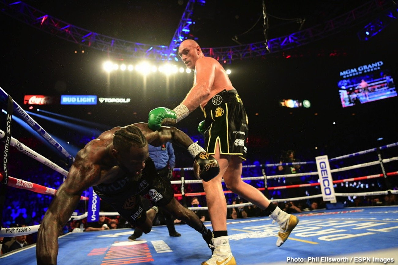 """Deontay Wilder, Tyson Fury - Deontay Wilder issued a statement on Friday making it known that he will be preparing for his third fight with Tyson Fury, and he'll begin preparation soon to get ready for that important match-up. Wilder (42-1-1, 41 KOs) says the """"WAR"""" with Fury has just begun, and he'll be taking his title away from the big 6'9"""" British fighter when they fight for a third time in the summer."""