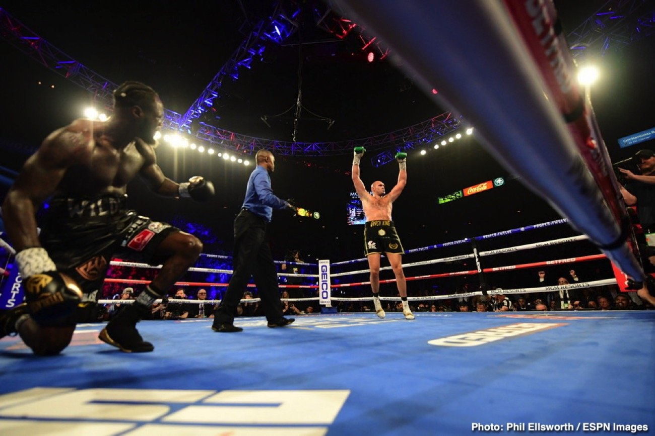 Deontay Wilder, Tyson Fury - Deontay Wilder didn't sustain a broken eardrum last Saturday in his loss to Tyson Fury as many people originally thought. The former WBC heavyweight champion Wilder (42-1-1, 41 KOs) merely suffered a cut inside his ear, which required stitches to close, according to ESPN.
