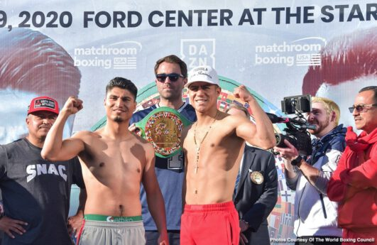 Jay Harris, Jessie Vargas, Joseph Parker, Julio Cesar Martinez, Khalid Yafai, Mikey Garcia, Roman Gonzalez, Shawndell Winters - Former 4 division world champion Mikey Garcia and Jessie Vargas both made weight on Friday for their 12 round clash this Saturday night at The Star in Frisco, Texas. This card will be streamed on DAZN.