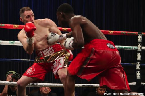Keith Hunter, Sanjarbek Rakhmanov -  For the second time in less than a year, rising undefeated super lightweight prospect Keith Hunter defeated tough-nosed Uzbekistan native Sanjarbek Rakhmanov from Sam's Town Live in Las Vegas. In the ShoBox: The New Generation main event Friday night on SHOWTIME, Hunter showed his full arsenal of skills to earn the unanimous decision. The judges scored the fight 97-92 and 98-91 twice.