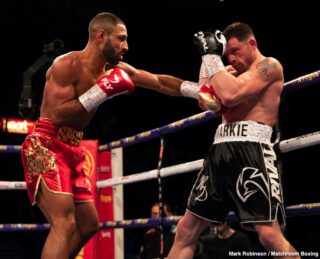 Mark DeLuca - Kell Brook (39-2, 27 KOs) came back from a 14 month layoff to conquer Mark DeLuca (24-2, 13 KOs) in a 7th round KO on Saturday night at the Sheffield Arena in Sheffield, England.
