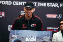 DAZN, Jay Harris, Jessie Vargas, Joseph Parker, Julio Cesar Martinez, Kal Yafai, Mikey Garcia, Roman Gonzalez, Shawndell Winters - In anticipation for the welterweight blockbuster event headlined by four-division World champion Mikey Garcia against two-division World champion Jessie Vargas, the fighters addressed the media in a press conference to discuss their preparation and predictions before entering the ring on Saturday night at Ford Center at The Star in Frisco, Texas – live on DAZN in the US and on Sky Sports in the UK.