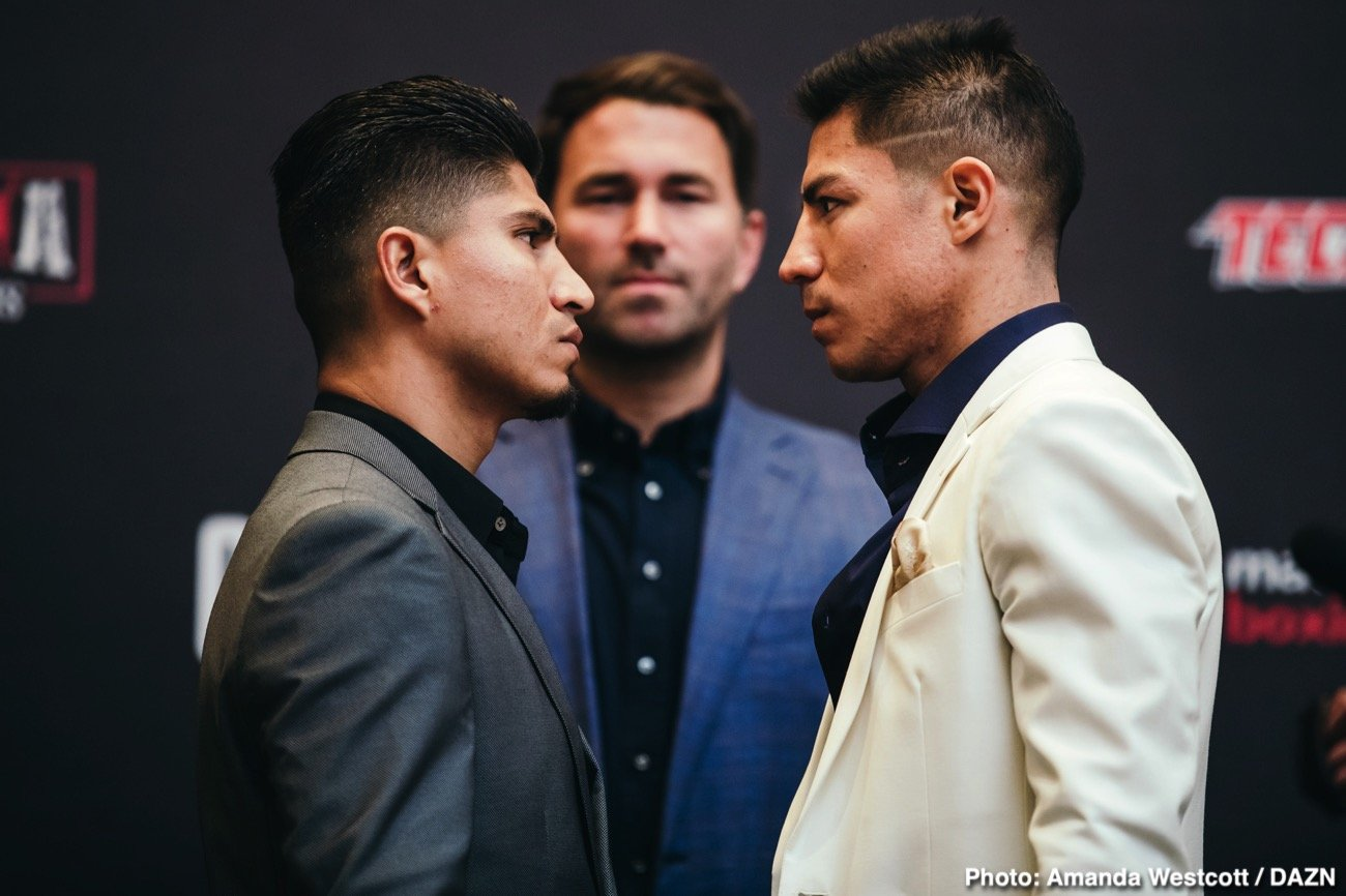 In anticipation for the welterweight blockbuster event headlined by four-division World champion Mikey Garcia against two-division World champion Jessie Vargas, the fighters addressed the media in a press conference to discuss their preparation and predictions before entering the ring on Saturday night at Ford Center at The Star in Frisco, Texas – live on DAZN in the US and on Sky Sports in the UK.