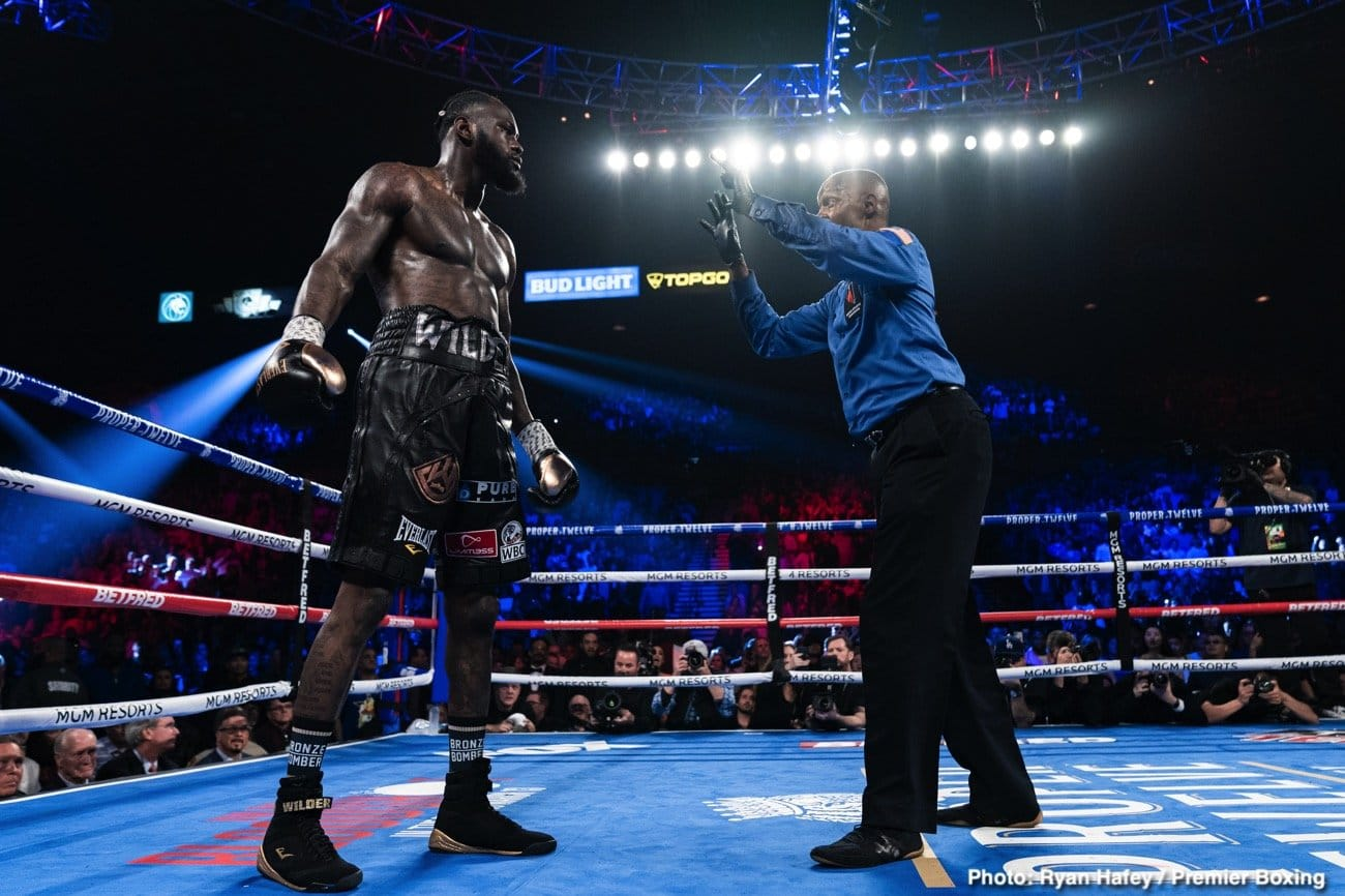 "Deontay Wilder - I don't know about you, but I think perhaps, in light of Deontay Wilder's actions over the weekend – actions that can only be referred to as bizarre, unhinged, and quite disturbing – the very legit question of whether or not Wilder will ever fight again can now be asked. Wilder, as we know, came out with that much-viewed video, in which the former WBC heavyweight champ accused Tyson Fury of ""loading his glove with an egg weight,"" and of trying to ""weasel out"" of their contracted third fight."