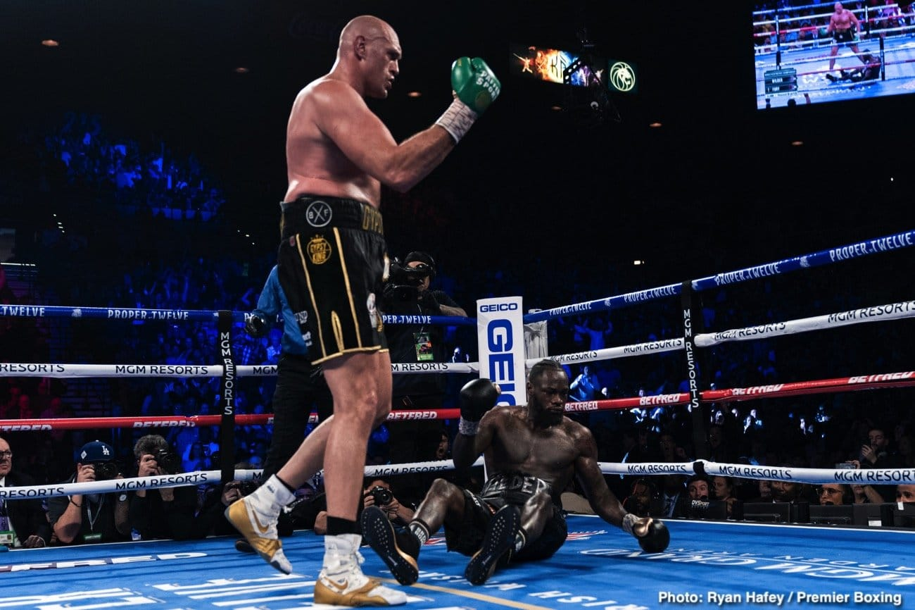 Carl Froch, Deontay Wilder, Tyson Fury - Fury did a good job of getting close to Wilder and taking away his ability to get leverage on his shots. Other heavyweights have tried that same tactic with various degrees of success, but Fury stuck with it and had success. If Wilder knew how to throw an uppercut like Anthony Joshua, Fury would have had something to worry about.