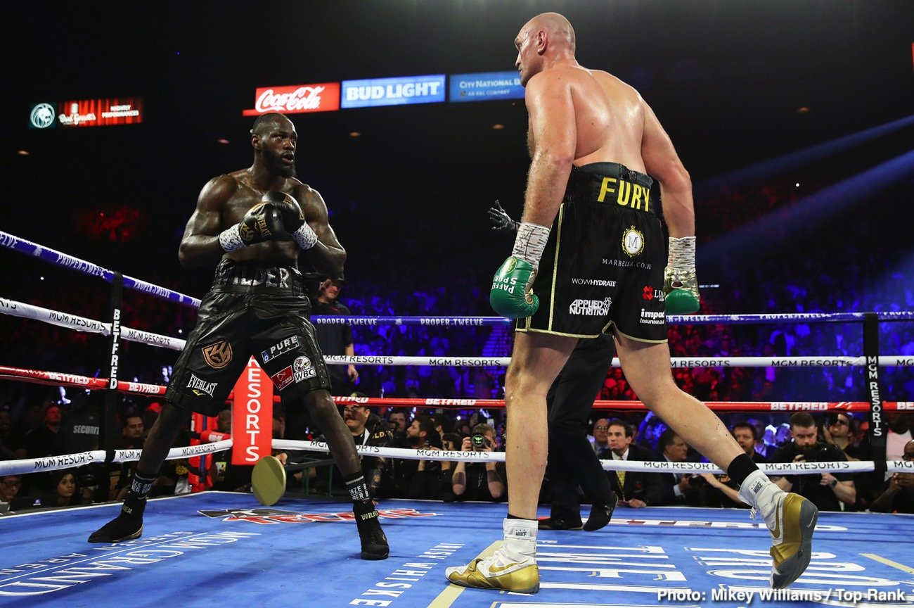 Deontay Wilder - There's an excellent chance that we could see a unification fight in December between heavyweight champions Anthony Joshua and Tyson Fury in a fight for the undisputed championship. This is the match that all of boxing wants to see, and it's one of those 50-50 affairs where it's almost impossible to pick a clearcut winner.