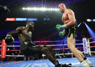 "Charles Martin - Tyson ""The Gypsy King"" Fury defeated Deontay ""The Bronze Bomber"" Wilder by seventh-round stoppage to capture the WBC Heavyweight Championship Saturday night headlining a historic mega PPV event from the MGM Grand Garden Arena in Las Vegas."