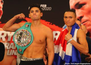 Francisco Fonseca - With 4,8 million followers on Instagram the 21-year old unbeaten boxer Ryan Garcia can make plenty of money without even throwing a punch. But if he wants to climb to great heights in the boxing world this Friday night is a great place to start the ascend to the top or as close as possible. His opponent is a sturdy veteran fighter named Francisco Fonseca and with only two losses it would seem to be a perfect opportunity for Ryan to take an important next step in his career. A possible summer fight could involve Jorge Linares if he's able to get by a Carlos Morales on the undercard. The card is promoted by Golden Boy Promotions and will be streamed live on DAZN.