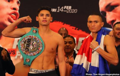 Blair Cobbs, Carlos Morales, Francisco Fonseca, Jorge Linares, Oscar De La Hoya, Ryan Garcia - Rising lightweight sensation Ryan Garcia (19-0, 16 KOs) and Nicaraguan contender Francisco Fonseca (25-2-2, 19 KOs) hosted their final press conference today at the Honda Center ahead of their 12-round title fight for the WBC Silver Lightweight Championship.
