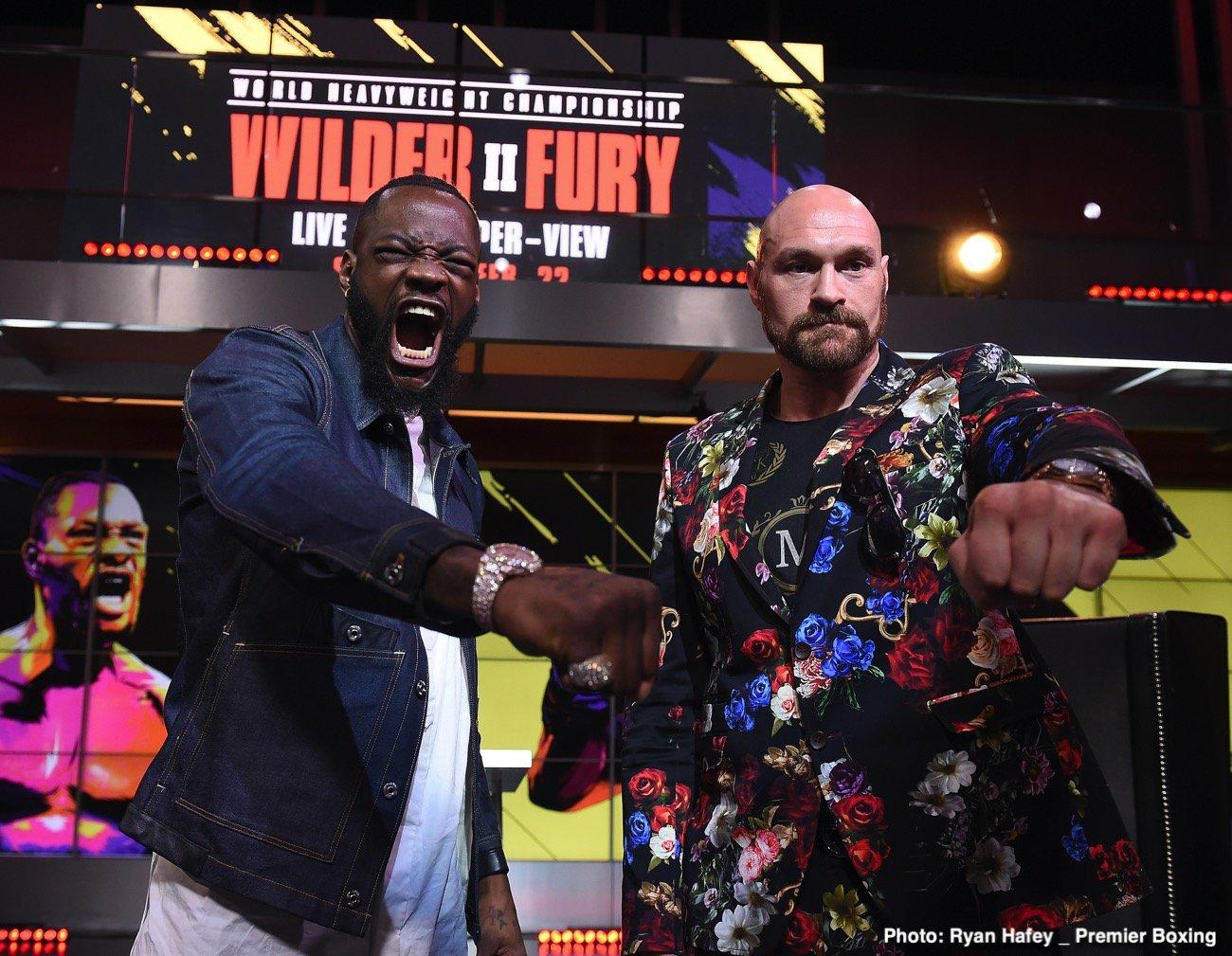 Deontay Wilder, Eddie Hearn, Tyson Fury - Boxing News