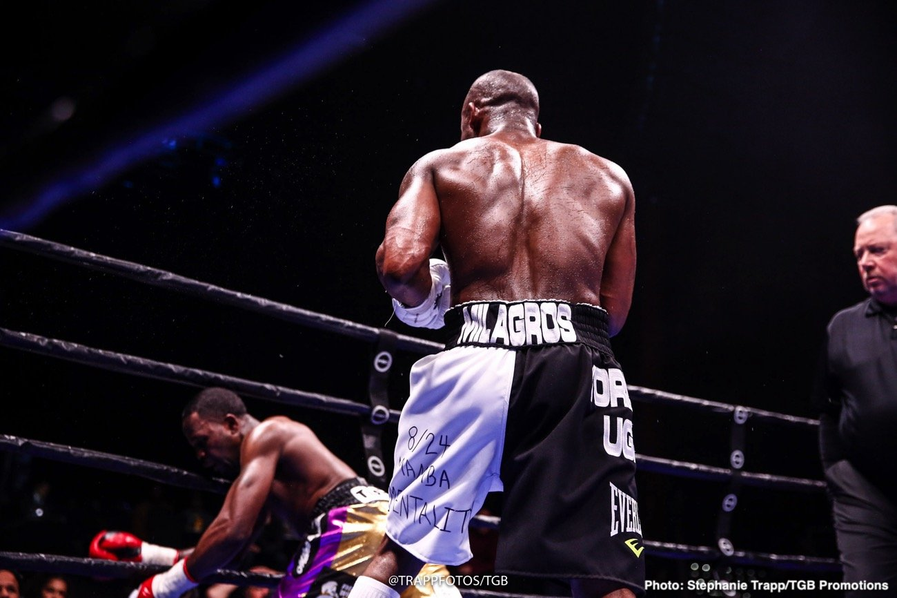 Top Cuban welterweight Yordenis Ugas (25-4, 12 KOs) defeated Mike Dallas Jr (23-4-2, 11 KOs) by seventh-round technical knockout in a showdown that headlined FS1 PBC Fight Night and on FOX Deportes Saturday from Beau Rivage Resort Casino in Biloxi, Mississippi.