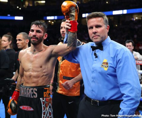 Alexis Rocha, Blair Cobbs, Jorge Linares, Ryan Garcia - In a much-anticipated fight night at The Honda Center in Anaheim, California, fans witnessed rising lightweight sensation Ryan Garcia (20-0,17 KOs) earn yet another first-round knockout of Francisco Fonseca (25-3-2, 19 KOs) to remain undefeated. Garcia's lightening hand speed and combinations lead him to an impressive victory that further proves he's ready for a world title shot.