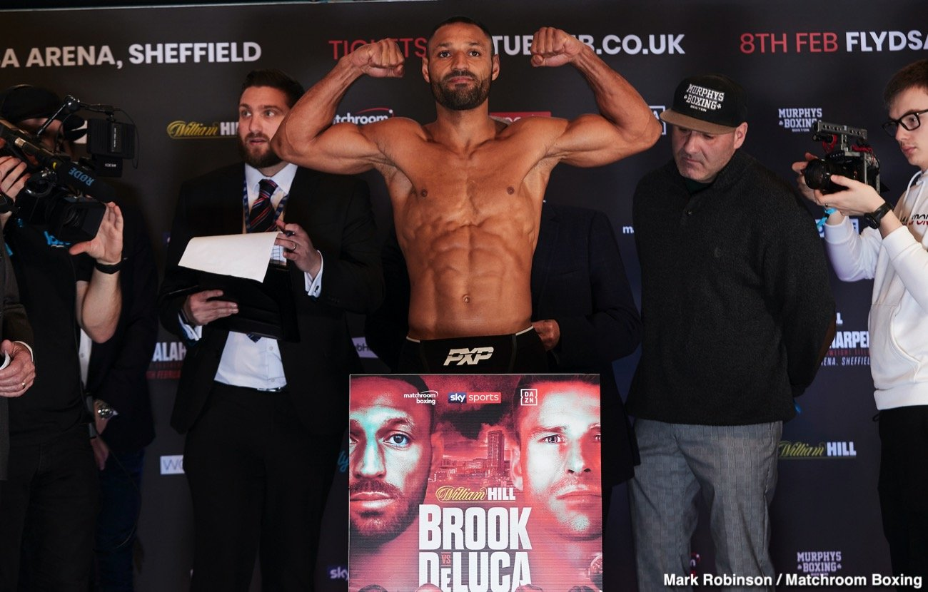 "Kell Brook - Matchroom promoter Eddie Hearn views his fighter Kell Brook (38-2, 26 KOs) as the ""forgotten man"", and he wants to him prove that he's still relevant when he steps into the ring to fight Mark DeLuca (24-1, 13 KOs) this Saturday night at the Sheffield Arena in Sheffield, UK."