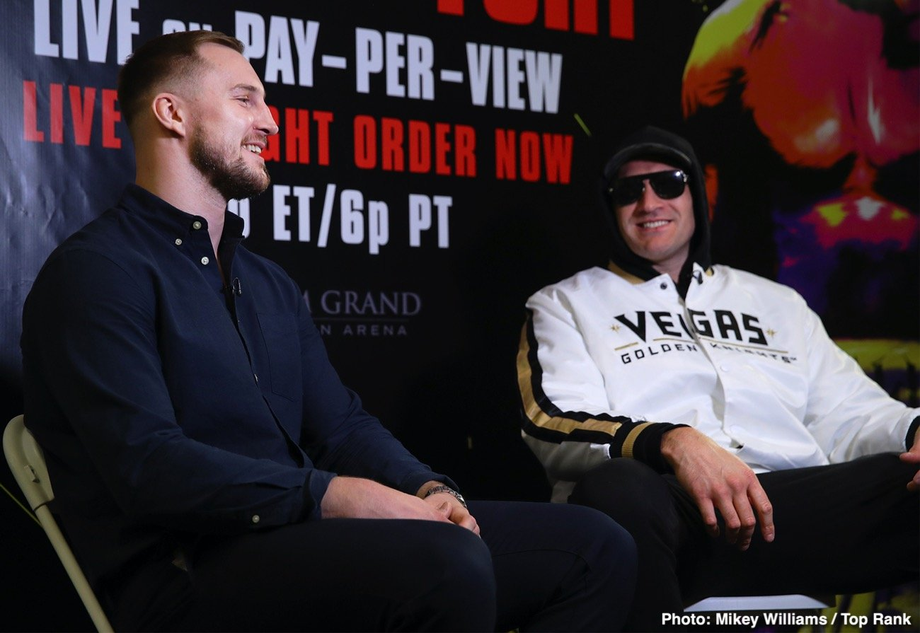 Otto Wallin, Tyson Fury - Swedish Heavyweight Who Nearly Stopped Fury Last September Says He'll Finish the Job in a Rematch.