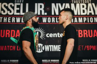 Gary Russell Jr. - This Saturday night on Showtime, yes I did write Showtime, has an interesting bout as Tugstsogt Nyambayar the mandatory challenger takes on the WBC 126-pound titlist Gary Russell Jr. Also on the card as the co-feature is Guillermo Rigondeaux vs. Liborio Solis serving as a dipping of the toes in the bantamweight water for Rigo. Not that the main event is a 50-50 but it should give Russell plenty to think about.
