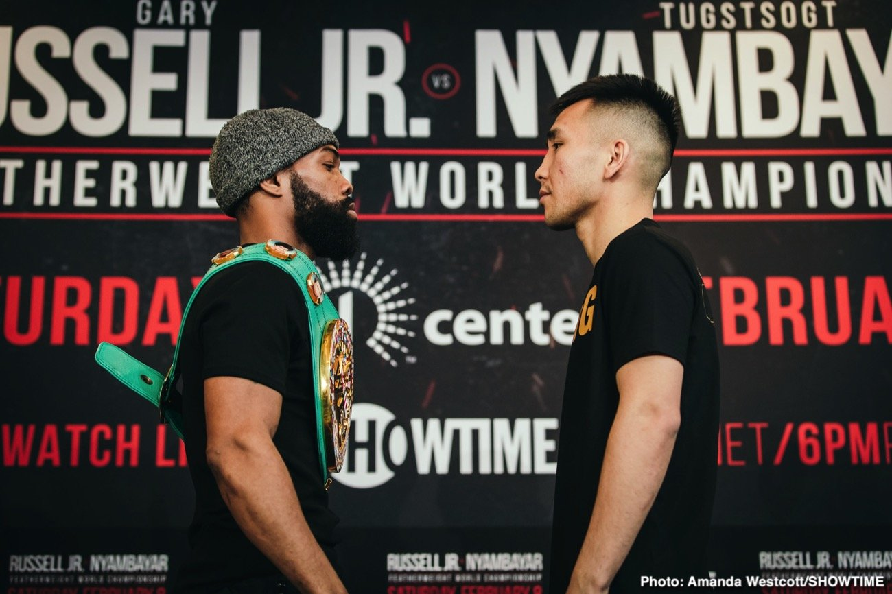 This Saturday night on Showtime, yes I did write Showtime, has an interesting bout as Tugstsogt Nyambayar the mandatory challenger takes on the WBC 126-pound titlist Gary Russell Jr. Also on the card as the co-feature is Guillermo Rigondeaux vs. Liborio Solis serving as a dipping of the toes in the bantamweight water for Rigo. Not that the main event is a 50-50 but it should give Russell plenty to think about.