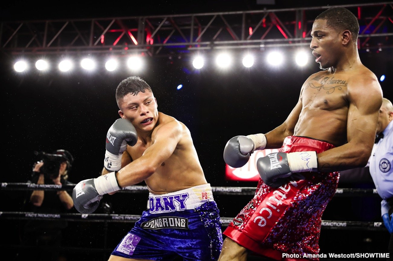 Isaac Cruz - Undefeated 21-year-old lightweight prospect Isaac Cruz stunned ShoBox: The New Generation veteran Thomas Mattice in a closely contested majority decision win in the ShoBox main event Friday night from 2300 Arena in Philadelphia, Pa.