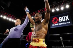 Isaac Cruz, Thomas Mattice - Undefeated 21-year-old lightweight prospect Isaac Cruz stunned ShoBox: The New Generation veteran Thomas Mattice in a closely contested majority decision win in the ShoBox main event Friday night from 2300 Arena in Philadelphia, Pa.