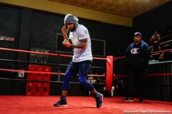 "Caleb Plant, Vincent Feigenbutz - Undefeated IBF Super Middleweight Champion Caleb ""Sweethands"" Plant and mandatory challenger Vincent Feigenbutz participated in a media workout in Nashville Wednesday before they square off this Saturday, February 15 at Bridgestone Arena in Nashville, Tennessee in the FOX PBC Fight Night main event and on FOX Deportes."