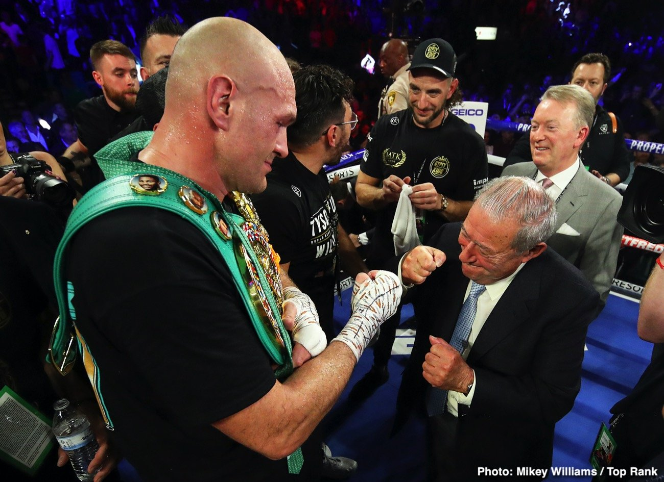 Anthony Joshua, Deontay Wilder, Dillian Whyte, Tyson Fury - Speaking about Dillian Whyte, WBC heavyweight champion Tyson Fury says he's not going to be dictated to by any of the sanctioning bodies by being pushed into fighting any of their mandatory challengers.