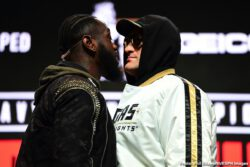 Deontay Wilder, Tyson Fury - One might be excused for thinking that, when three American scoring judges are assigned to work a fight between an American fighter and a British fighter, the situation is unfair to the British fighter. But Tyson Fury, upon learning how there will be three U.S judges scoring this Saturday's massive return fight between he and Deontay Wilder, made it clear he is more than happy.