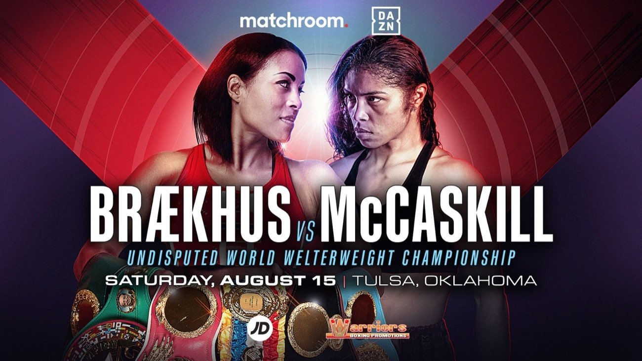 Cecilia Braekhus, Jessica McCaskill - Jessica McCaskill has the biggest fight of her career against undisputed Welterweight ruler Cecilia Brækhus on the streets of downtown Tulsa, Oklahoma on August 15, live on DAZN – and McCaskill believes that victory would lead to even more mega-fights.
