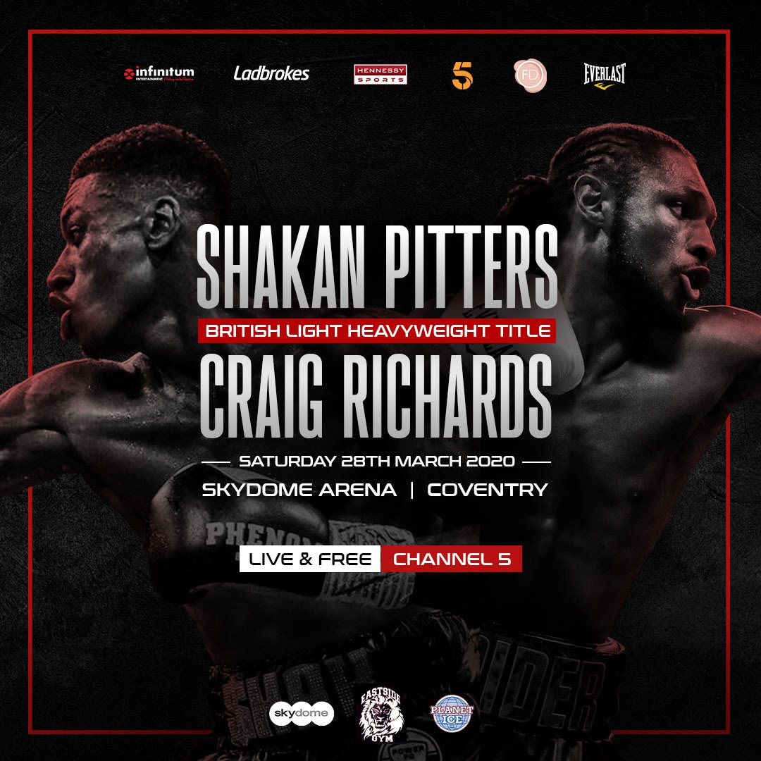 Craig Richards, Sam Eggington, Shakan Pitters - Birmingham hero Sam Eggington will be one of the featured attractions on the undercard of the big showdown between Shakan Pitters and Craig Richards for the British Light-Heavyweight Championship on Saturday 28th March at the Coventry Skydome, exclusively live on free-to-air Channel 5.