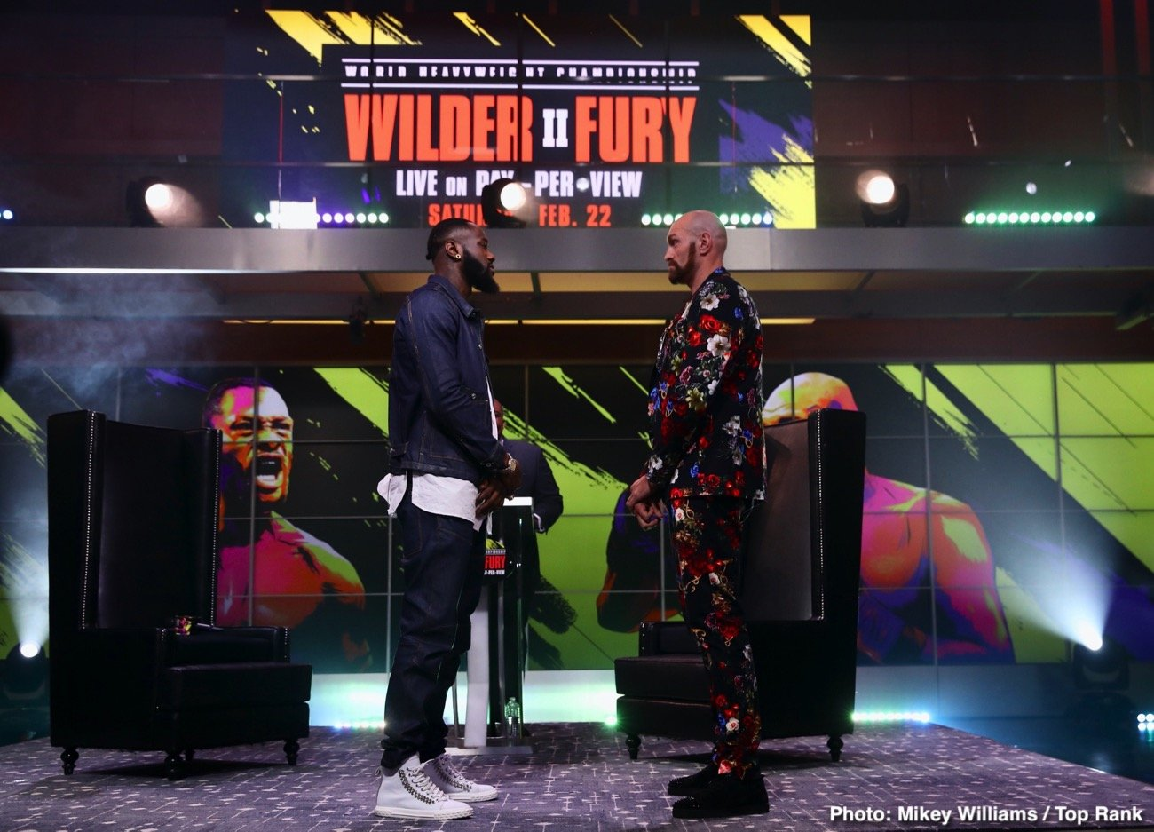 Deontay Wilder, Mike Tyson, Tyson Fury - Former IBF/WBA/WBC heavyweight champion Mike Tyson is really looking forward to next Saturday's rematch between WBC heavyweight champion Deontay 'The Bronze Bomber Wilder and Tyson 'The Gypsy King' Fury on February 22.