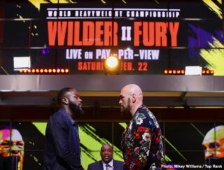 "Deontay Wilder, Tyson Fury - LAS VEGAS - Today, ESPN and FOX Sports announced an extensive Wilder vs. Fury II fight week and fight night programming lineup in advance of the highly anticipated rematch between undefeated heavyweight champion Deontay ""The Bronze Bomber"" Wilder and unbeaten lineal champion Tyson ""The Gypsy King"" Fury taking place on Saturday, Feb. 22, in a historic, joint presentation by FOX Sports PPV and ESPN+ PPV live from the MGM Grand Garden Arena in Las Vegas."
