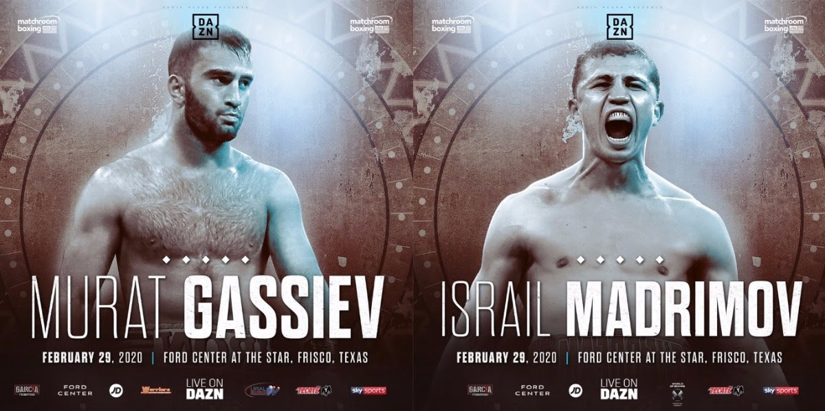 Israil Madrimov - Murat Gassiev will make his long-awaited Heavyweight debut against Jerry Forrest at Ford Center at The Star in Frisco, Texas on Saturday February 29, live on DAZN in the US and on Sky Sports in the UK – with rising Junior-Middleweight star Israil Madrimov in a World title eliminator and headline star Mikey Garcia showcasing two of his Garcia Promotions talents.